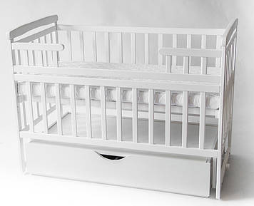 Детская кроватка трансформер DeSon с ящиком белая