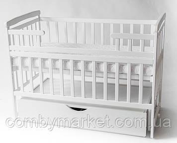 Дитяче ліжко DeSon з шухлядою та маятником біле
