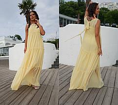 """Длинное шифоновое платье-двойка """"Амели"""" без рукавов (большие размеры), фото 3"""