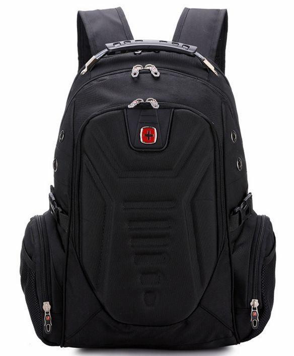 Вместительный рюкзак SwissGear Wenger, свисгир. Черный. + Дождевик. 35L / s7611 black, фото 1