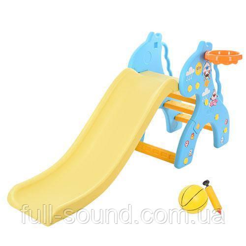 Игровая горка с кольцом жираф