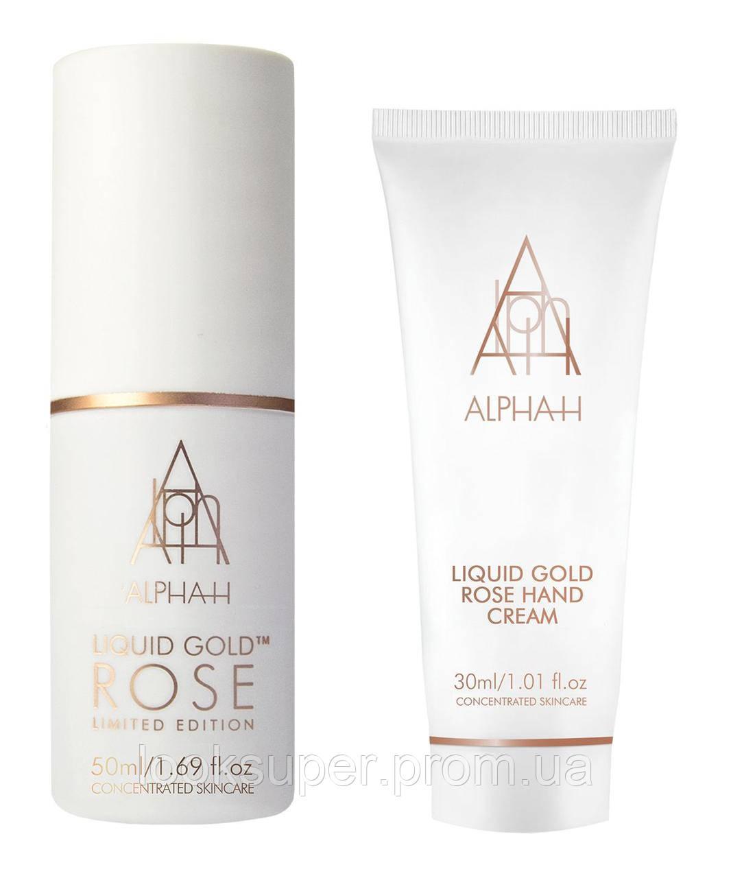 Дорожный набор лосьон и крем для рук Alpha-H Liquid Gold Rose Travel Set (50,30 мл)