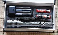 Мощнейший линзовый аккумуляторный фонарь WD341-200 000W T6 NEW,zoom,2 АКБ 18650
