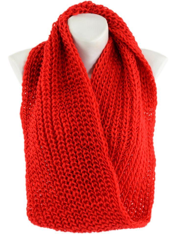 3fffcadaa0e8 Женский акриловый шарф-снуд Traum 2482-21 красный