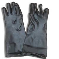 Перчатки резиновые для химзащиты черные,  оригинал Британия Высший сорт