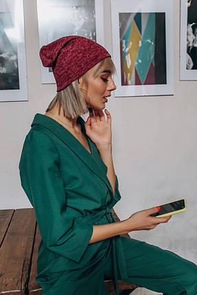 """Ангоровая женская шапка-чулок """"MELANJ"""" (4 цвета), фото 2"""
