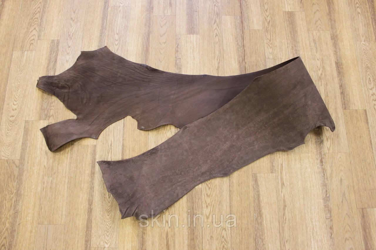 Кожа натуральная ременная в полах коричневая, толщина 2.6 мм,  арт. СК 1715