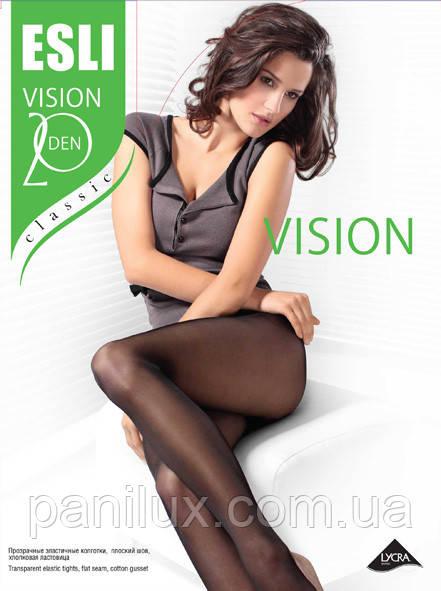 Колготки женские  полиамидные (капроновые) ТМ Esli Vision 20 Den 2-4 р.
