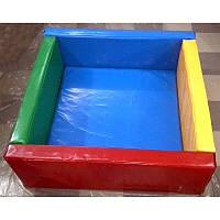 "Бассейн сухой - Манеж ""Квадрат 1,5м"" мягкий пол (ПВХ) без шариков, фото 1"