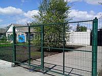 Ворота распашные  РУБЕЖ/КОЛЬЧУГА для забора из сетки 1000, 2000, 2000