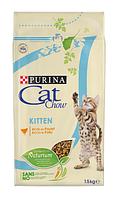 Cat Chow (Кэт Чау) Kitten Сухой корм для котят с курицей, 15 кг