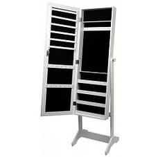Зеркало напольное с шкафом для бижутерии, 41,5х36,5х147 см, белый, фото 2