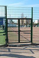 Ворота распашные  РУБЕЖ/КОЛЬЧУГА для забора из сетки 1200, 2200, 2000