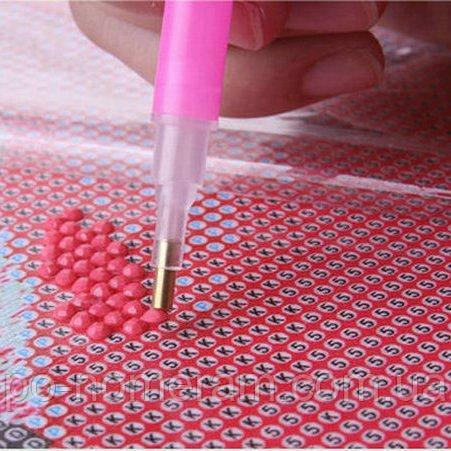 алмазная вышивка техника приклеивания круглых страз