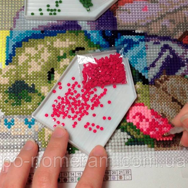 как клеить алмазную мозаику