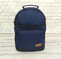 Стильный рюкзак Levi`s, левис, левайс. Повседневный, городской. Синий с черным, фото 1