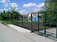 Ворота распашные  РУБЕЖ/КОЛЬЧУГА для забора из сетки 1300, 2300, 4000