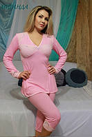 Женская пижама трикотаж+кружево МИРАНДА FLEUR Lingerie