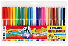 Фломастеры Centropen 24 цв Colour World 7550-24ТП-0112