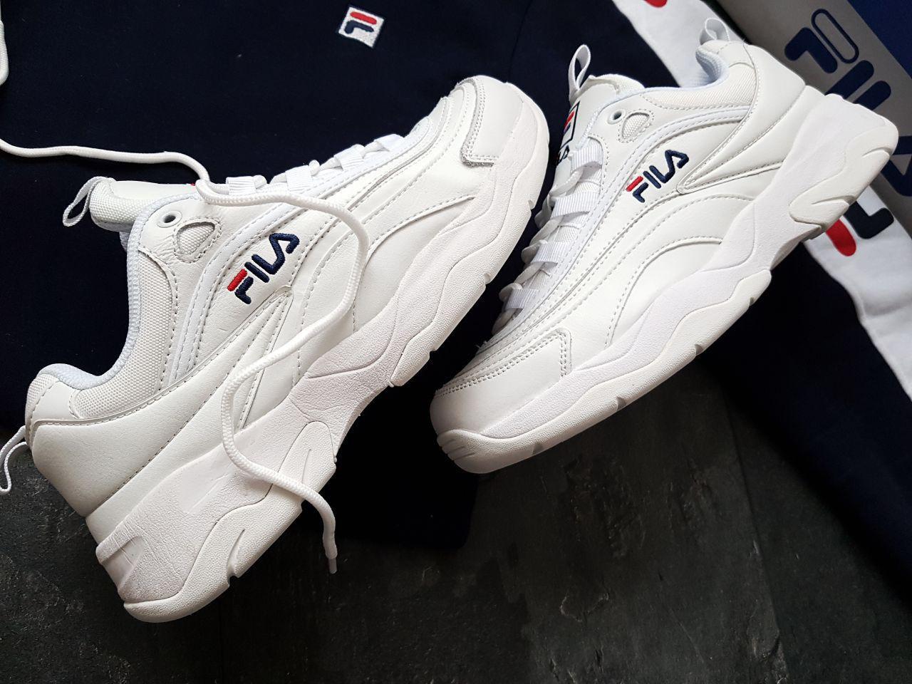 Мужские кроссовки Fila White  e7d041d115f57