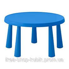IKEA МАММУТ Стіл дитячий, для будинку і вулиці синій, 85 см