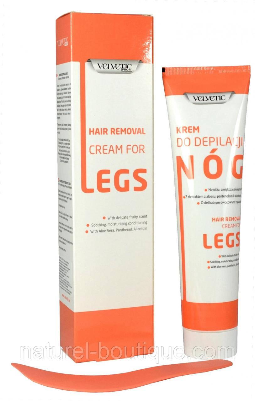 Крем для депиляции ног VELVETIC PROFI увлажняет,  смягчает, питает 180 мл