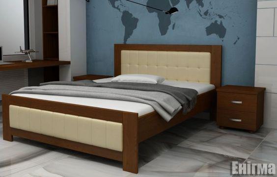 Кровать деревяная 160х200 Енигма Явіто (11 вариантов цветов)