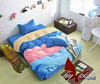 Евро комплект постельного белья Color mix APT048