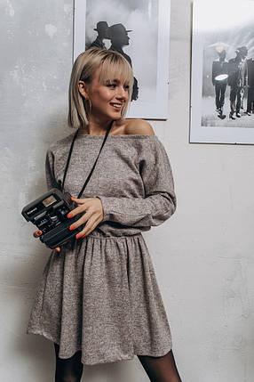 """Приталенное ангоровое мини-платье """"FILA"""" с длинным рукавом (4 цвета), фото 2"""