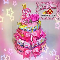 Торт в детский сад из соков и Барни «Свинка Пеппа»
