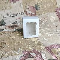 Коробка / Бонбоньерка / 60х60х75 мм / Белый / окно-обычн, фото 1