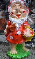 Фигура Гном  грибник бородач 50 см.