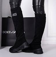Женские демисезонные   сапоги черные , фото 1