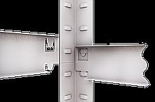 Стеллаж полочный Стандарт, оцинкованный, на зацепах (2400х1000х500), 5 полок, МДФ, 220 кг/полка, фото 2