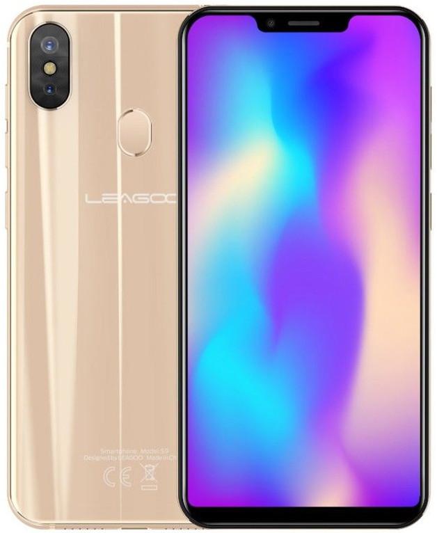 """Смартфон Leagoo S9 4/32Gb Gold, 13+2/8Мп, 5.85"""" IPS, 2SIM, 4G, 3300мАһ, 8 ядер"""