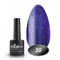 Гель-лак Nice for you № 30 (синьо-фіолетовий з дрібної блискіткою), 8,5 мл, фото 1