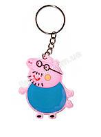 Брелок Папа Свин (свинка Пеппа) подвеска, игрушка - стильный аксессуар