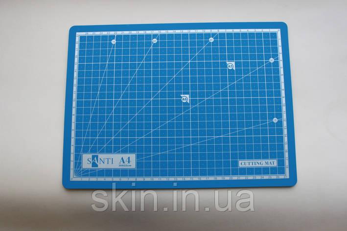 Коврик самовостанавливающийся для резки кожи Santi, размер 30*22 см, формат А-4, толщина 3 мм., арт. СК 6063, фото 2