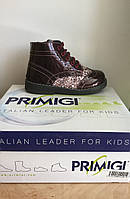 Ботинки демисезонные для девочки PRIMIGI бордовые лакированные ARIOSTO