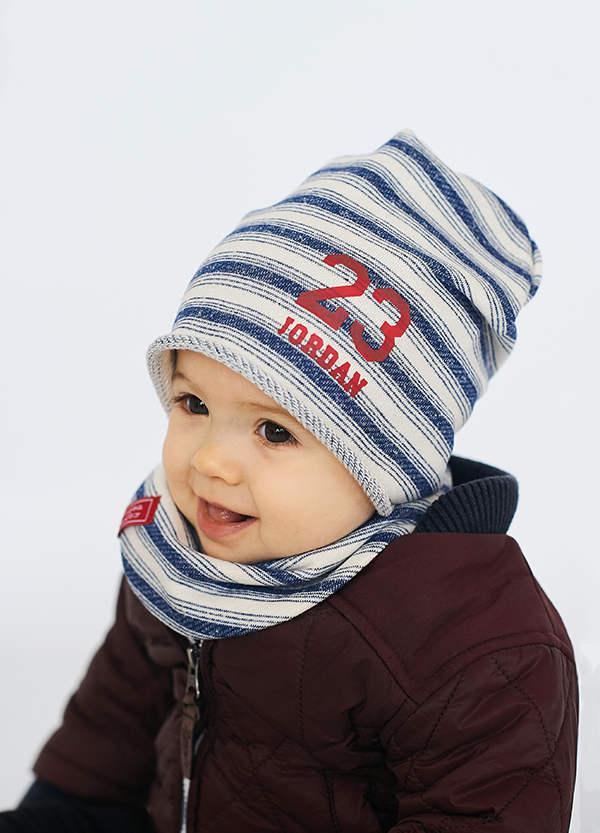 Детская шапка ГАС (набор)для мальчиков оптом размер 42-44-46