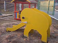 Горка Слоник  детская игровая уличная