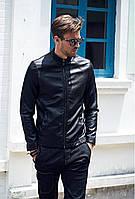 Мужская молодежная куртка из кожзама (эко-кожа  качество)