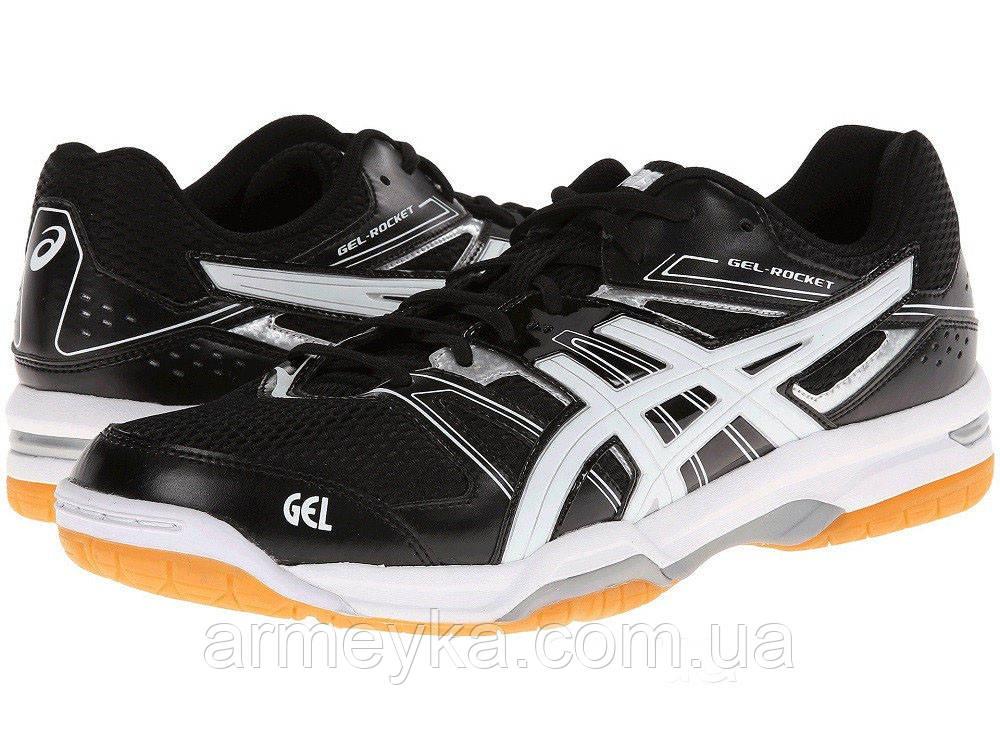 b28cc9e2 Волейбольные тренировочные кроссовки Asics GEL-Rocket 7 (Black/White ...