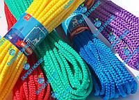 Шнур бытовой полипропиленовый вязаный. Диаметр 6 мм, длинна 15 м, набор из 5 цветов., фото 1