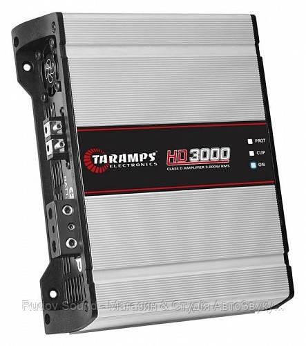 Усилитель Taramps HD 3000 v.1Ω (Широкополосный моноблок | 1400w в 4Ω | 2450w в 2Ω | 3600w в 1Ω)
