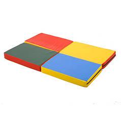 Детский спортивный гимнастический мат складной Пятнашка 120х80x8 см