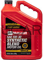 Ford-Motorcraft SAE 5W-30 Synthetic Blend полусинтетическое моторное масло, 4,73 л (XO5W305QSP)