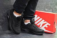 Кроссовки мужские в стиле Nike Air Max 98 Off White, резина, текстиль код SD-7056. Черные