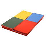 Гимнастический детский мат складной Домино для занятий спортом 120х160x4 см, фото 4