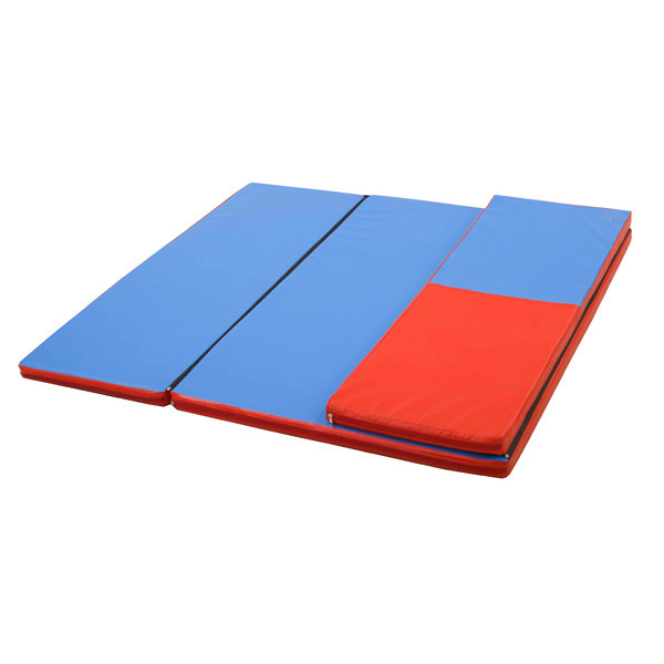 Гимнастический детский мат складной Домино для занятий спортом 120х160x4 см